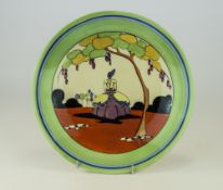 Clarice Cliff Hand Painted Cabinet Plate