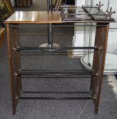 Early 20thC Mahogany Framed Shoe Rack, M