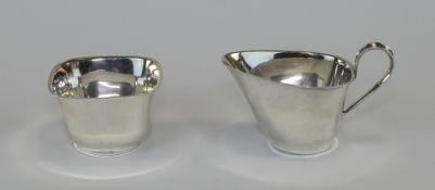 Swedish - Stylish Silver Milk Jug and Su