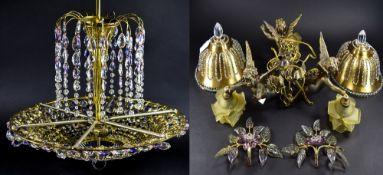 Brass Ceiling Light In The Form Of Cheru