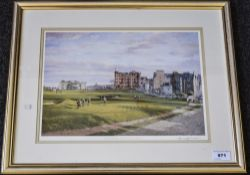 Framed Print Depicting The Old Course St