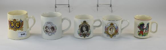 Collection Of Four Commemorative Mugs. C