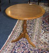 Modern Yew Wood Tripod Table