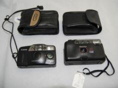 Two Cameras. 1. Prakitika 2. Canon.