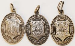 LNER Silver Passes, three in total. The first is engraved 'No A131 L. Meara Scottish Area'. The
