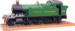 A wooden Model of a 4.5in gauge GWR 2-6-2 Prairie Tank number 4532. Measures 32in long. Nicely