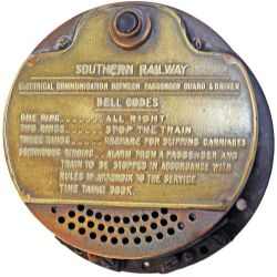 Southern Railway brass cased Electrical Communication Bell from the cab of Southern Railway M7