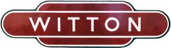 Totem BR(M) WITTON, F/F. Ex LNWR station opened in 1837 between Perry Barr and Aston. This was the