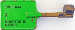 Single Line Bronze key Token stamped both sides EVESHAM - MORETON IN MARSH 26, in original condition