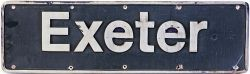 HST cast alloy Nameplate Exeter, ex 43025. The loco was named 25/04/1994 and carried the nameplate