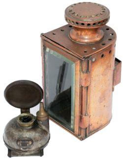 LNWR copper gauge glass lamp