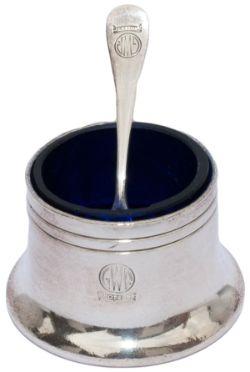 GWR Hotels salt pot & salt spoon