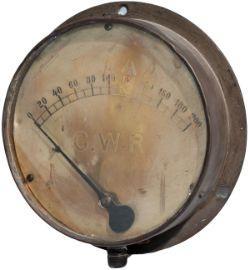 GWR brass pressure gauge