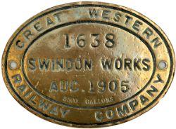 GWR Brass 1638