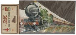 GWR wooden jigsaw by Chad Valley SPEED, 150 pieces with original brown label box. Jigsaw and box
