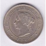 Jamaica 1869 - Penny, (KM17), BUNC, scarce