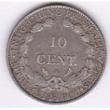 France 1901-(10) cents, GVF/AEF, (KM9)