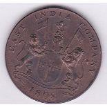 India 1808-20 cash, (British), AUNC (KM321)