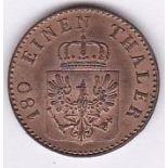 Germany (Prussia) 1858A - (2) pfennig, UNC, (KM452)