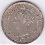 Jamaica 1887 - Half penny, (KM16), UNC scarce