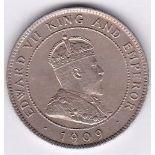 Jamaica 1909 - Penny, (KEDVII), (KM23), UNC