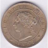Jamaica 1887 - Penny, (KM17) BUNC, very scarce