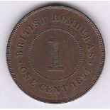 British Honduras 1894 - cent GEF/AUNC, good part lustre (KM6)