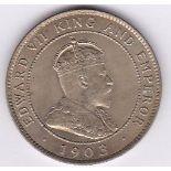 Jamaica 1903 - Penny, (KEDVI), (KM20) BUNC