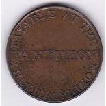 Ireland 1799 - Halfpenny Token - Dublin building 1799 below, rev, payable at the Phantheon etc GUF