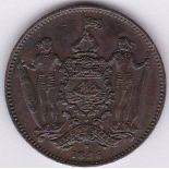 British North Borneo 1896H - cent, AUNC, dark toning, (KM2) scarce