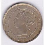 Jamaica 1880 - Half penny, (KM16), BUNC choice