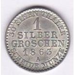 Germany (Prussia) 1863A - Grochen, (KM485), BUNC choice