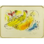 """Marc Chagall, French/Russian (1887-1985) Color lithograph """"The Accordion Player"""" Signed in pencil,"""