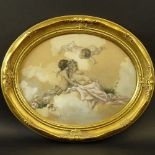 """Virgilio Tojetti, Italian (1851-1901) Watercolor on paper """"Cherubs"""" Signed and dated '98 lower"""