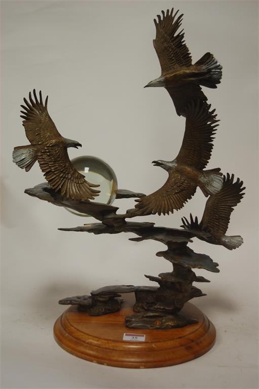 Bald Eagle Figurine Franklin Mint