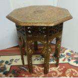 Ornate Octagonal Lamp Table