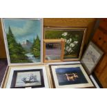 Assorted Lot of 5x Pictures and One Mirror