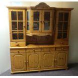 4 Door Pine Display Cabinet