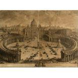 GIUSEPPE VASI (1710-1782) .. IL PROSPETTO PRICIPALE DEL TEMPIO E PIAZZA DI S. PIETRO IN VATICANO..