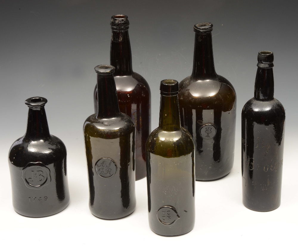 TWO 19TH CENTURY OXFORD COLLEGE SEALED WINE BOTTLES 'TCCR' (Trinity College Common Room) and ASCR in