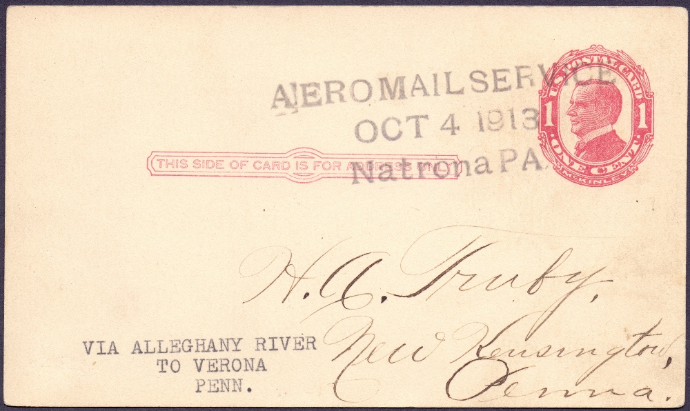 Lot 88 - Postal History , Airmail: USA, 1913 4th