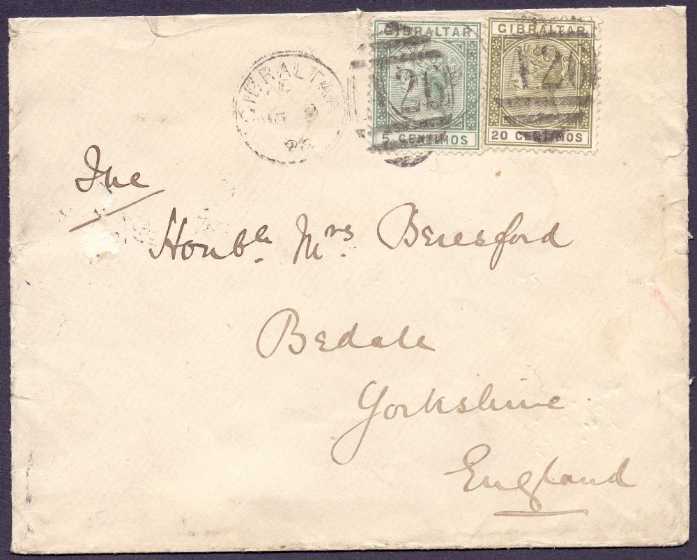 Lot 47 - Postal History, stamps : GIBRALTAR 1896
