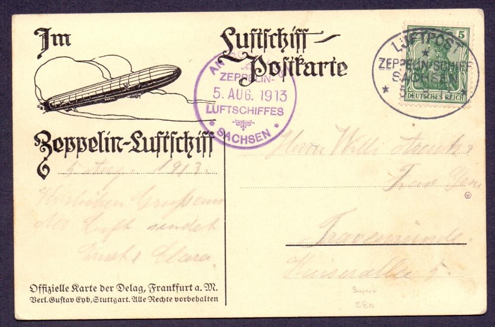 Lot 94 - Postal History , Airmail : 1913 flight b