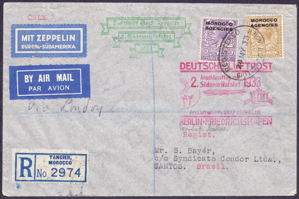 Lot 108 - Postal History , Airmail : MOROCCO AGENC