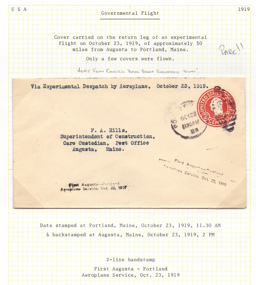 Lot 90 - Postal History Airmail : USA, 1919 23rd