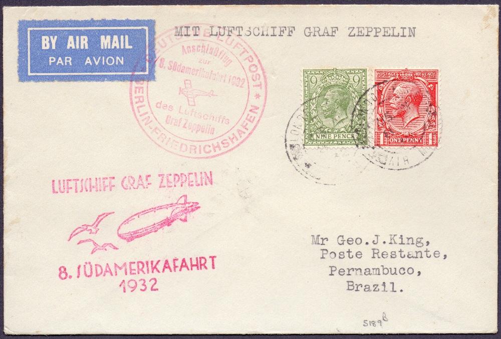 Lot 99 - Postal History , Airmail : GREAT BRITAIN