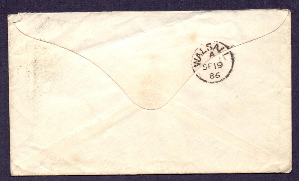 Lot 40 - Postal history cover : Australia 1886 co