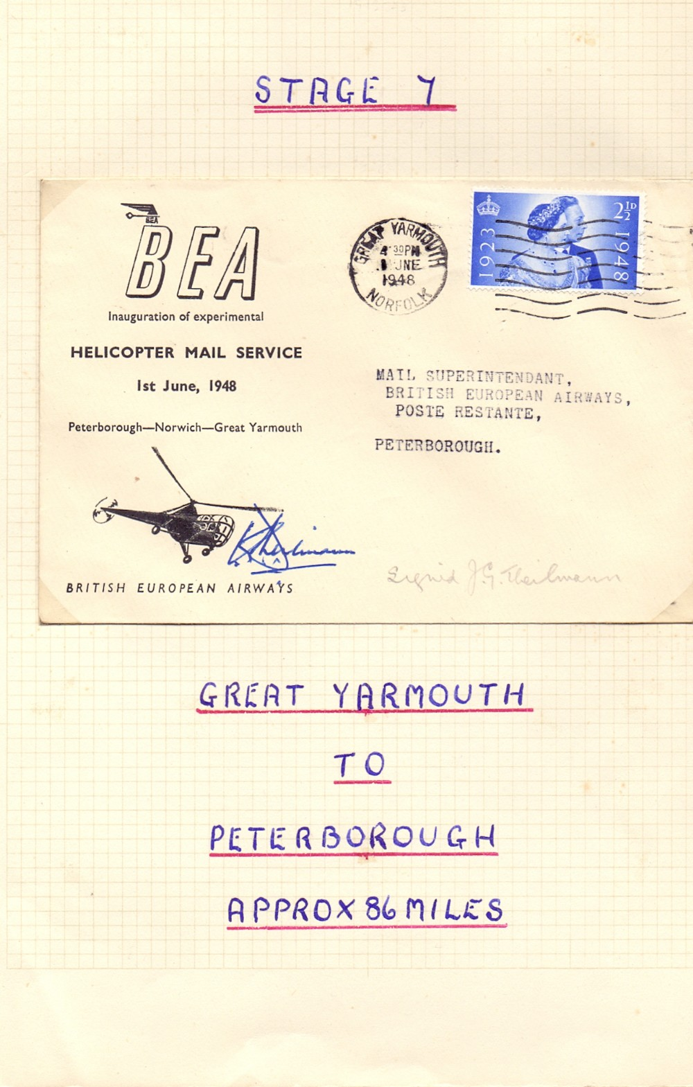 Lot 42 - Postal History : BAE Helicopter covers w