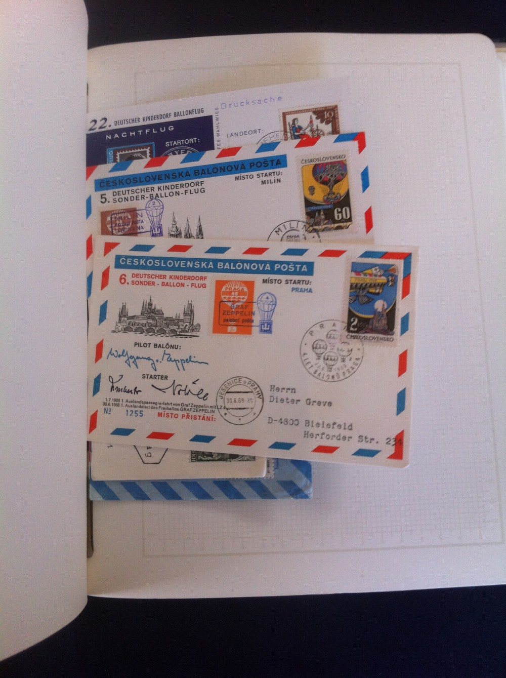 Lot 80 - Postal History . Airmail : Rocket & Ball