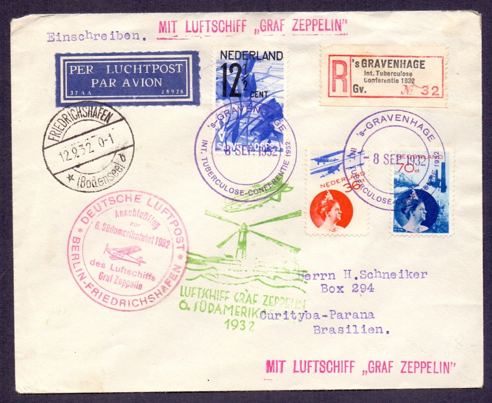 Lot 110 - Postal History , Airmail : NETHERLANDS,